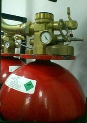 Запорный клапан на газовом баллоне