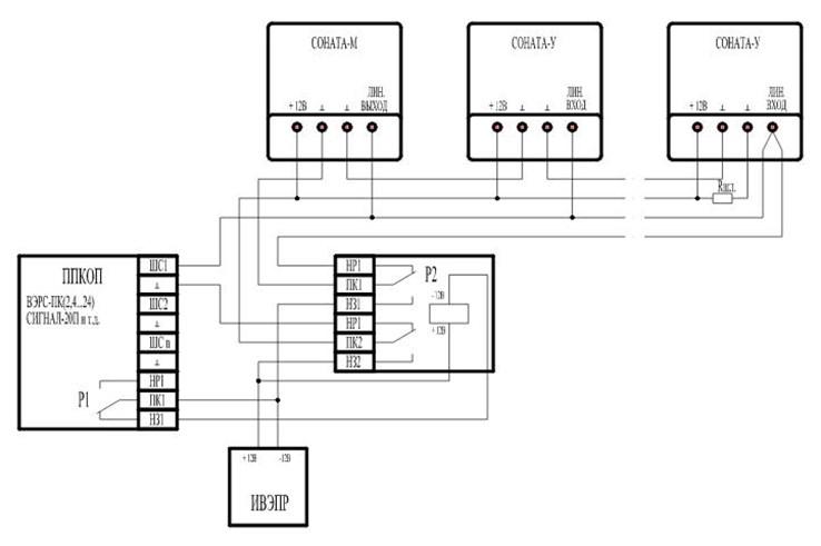 Схема подключения моделей соната