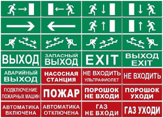Знаки оповещения