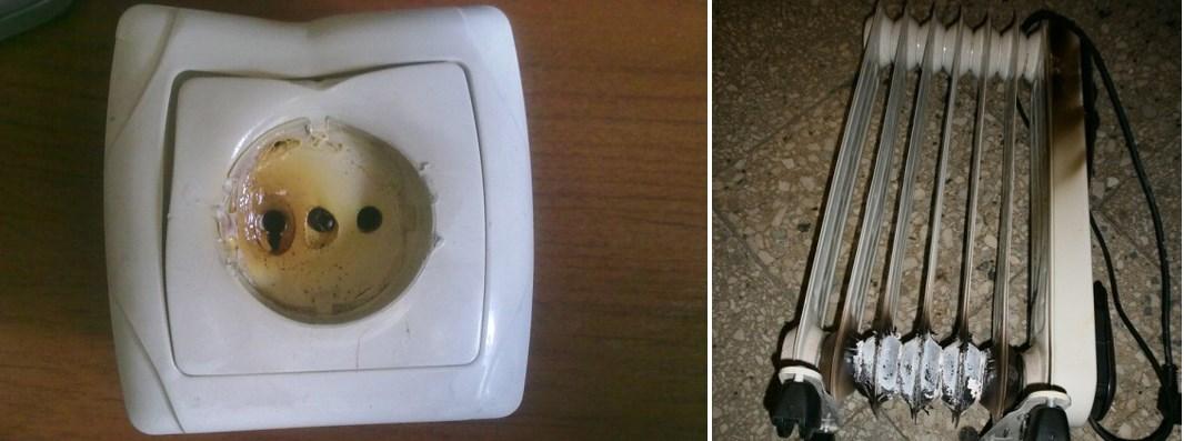 Неисправные электрические приборы