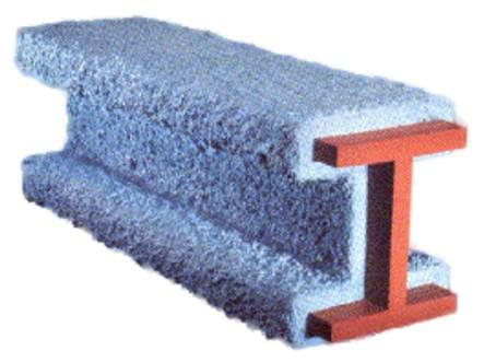 Часть конструкции, обработанная огнезащитным составом