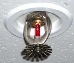 Спринклер с теплочувствительной колбой