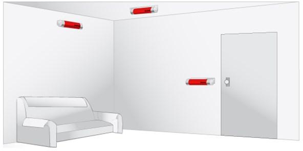 Примеры установки капсулы в помещении