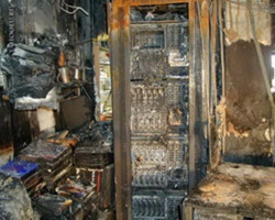 Безопасность серверной от возгорания