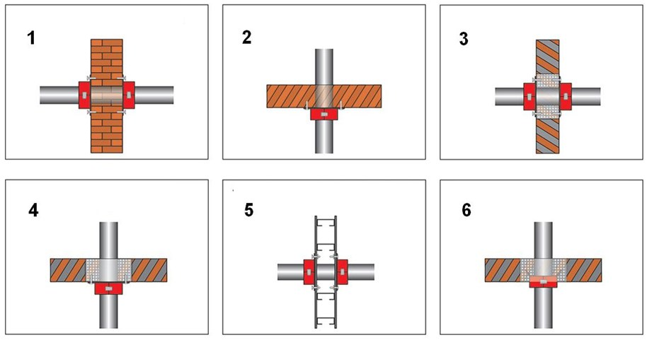 Схема монтажа ППМ на плитах перекрытия и стенах