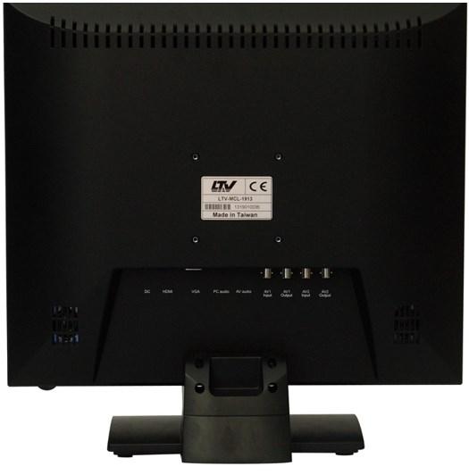 Профессиональный LED монитор для видеонаблюдения, модель LTV-MCL-1913 на задней панели 2 разъема BNC, VGA, HDMI, RCA, аудиоканал, питание 12В
