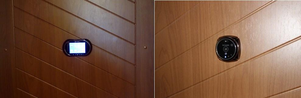 Расположение видеоглазка на входной двери изнутри и снаружи