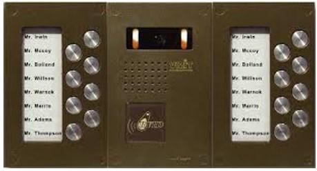 Внешняя панель с аналоговым типом вызова абонентов и видеокамерой, производитель Vizit