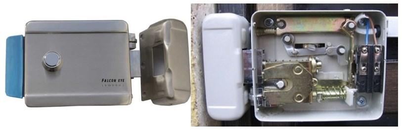 Внешний вид и устройство электромеханического замка