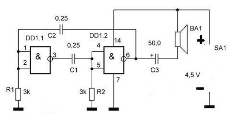 Микросхема для усилителя динамика на основании TDA2005