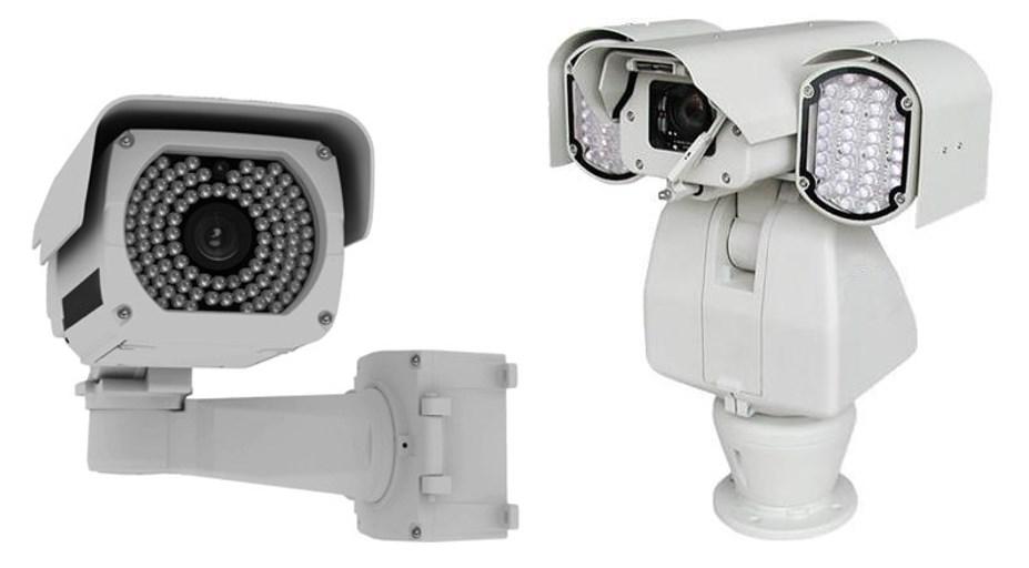 ИК подсветка – интегрированная внутрь защитного корпуса и в виде дополнительных внешних модулей