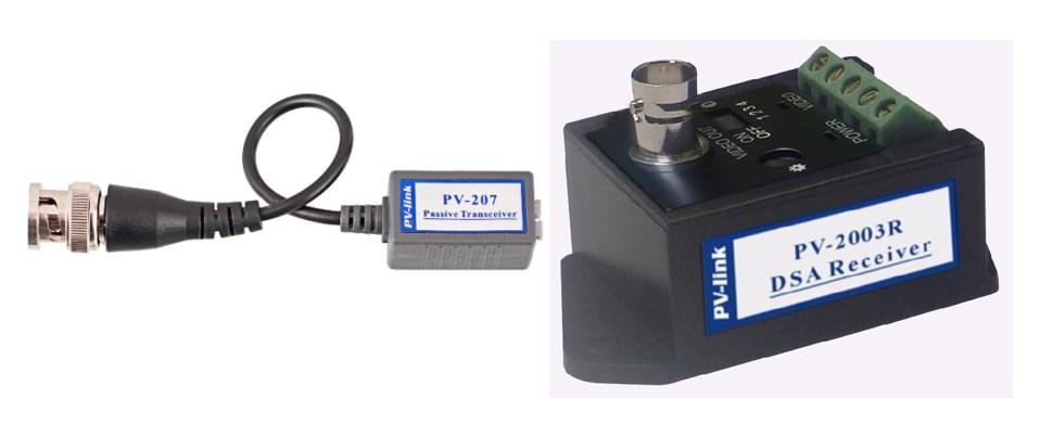 Усилители сигнала, модели (1) PV-207 и (2) PV-2003R-DSA