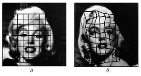 А прямоугольный граф, Б антропометрическая решетка