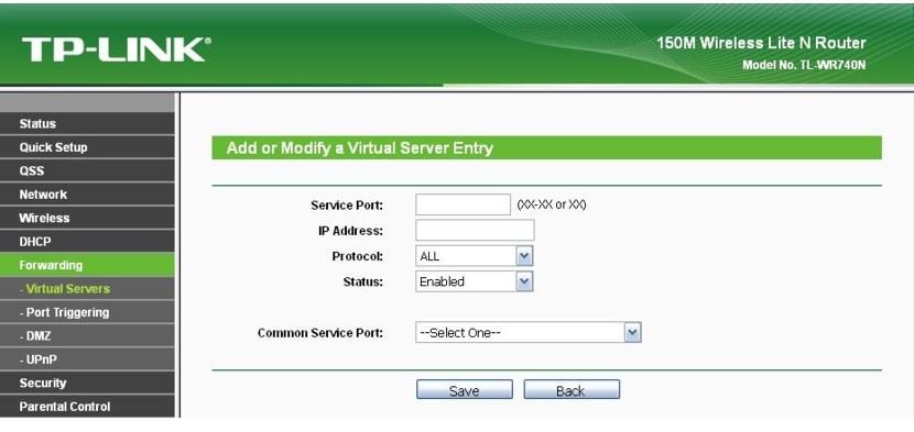 Прописываем адрес IP камеры