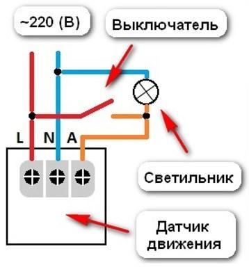 Рекомендуемая схема подключения