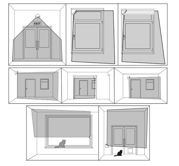 Способы установки детектора штора для блокировки оконных и дверных проемов