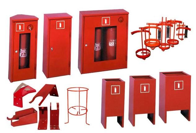 Вспомогательные приспособления для размещения огнетушителей
