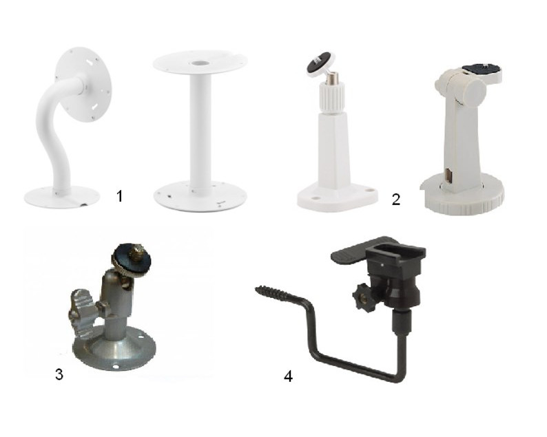 Разновидности кронштейнов для камер видеонаблюдения