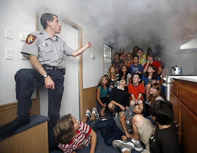 Обучение действий при пожаре