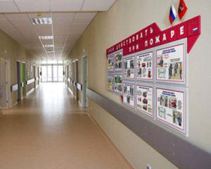 Размещение эвакуационных схем и иллюстрированных инструкций в помещении школы