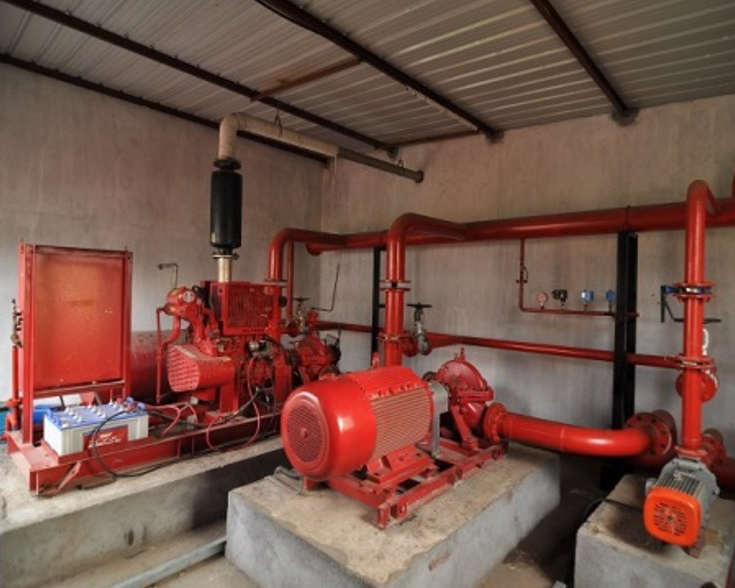 Станция подкачки – поддерживает необходимый уровень давления воды