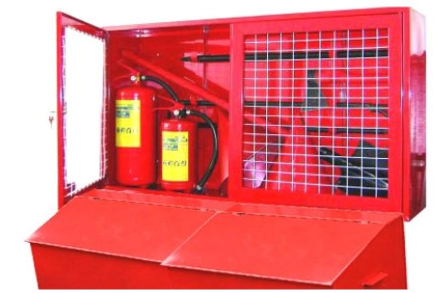 Пожарный щит – комбинированная конструкция закрытого типа с ящиком для песка