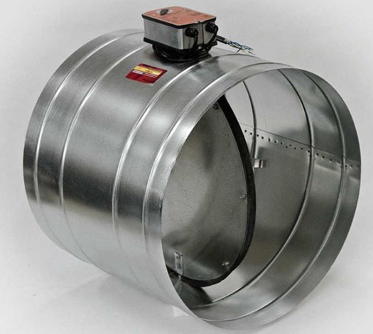 Противопожарный клапан с круглым сечением