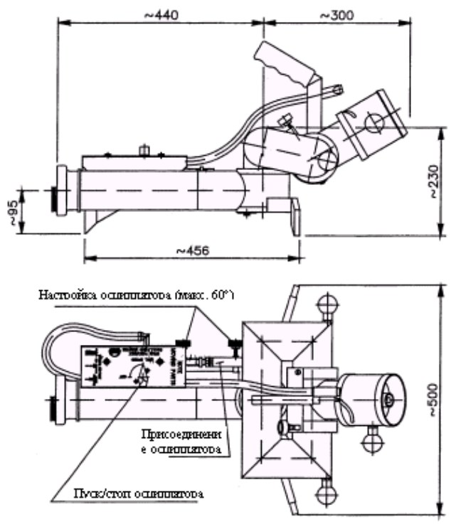 Чертеж конструкции лафетного ствола