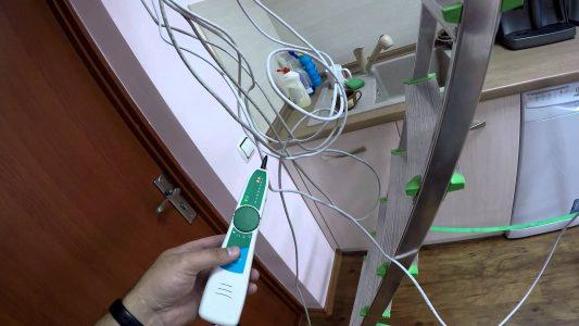 Тестирование кабельных линий передача изображения при помощи устройства Pro'sKit MT-7068