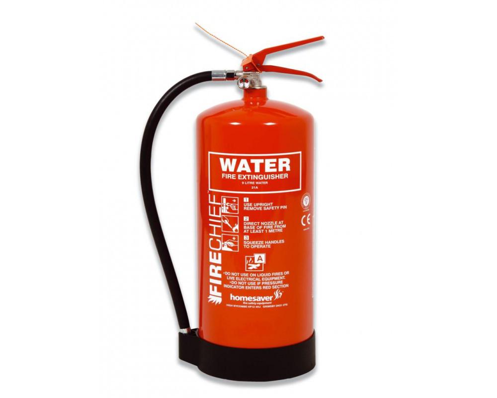 Где необходим огнетушитель с водным веществом