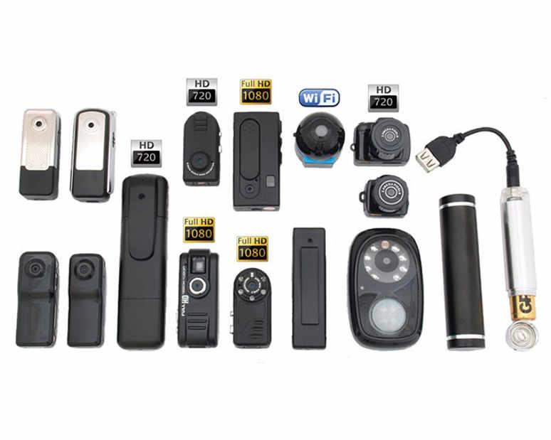 Различные модели миникамер