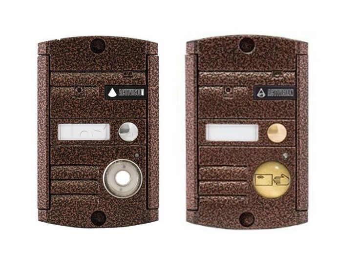 Внешняя вызывная панель видеодомофона, модель Activision AVP-451 в двух вариантах (1) со считывателем Touch Memory и бесконтактным для карт