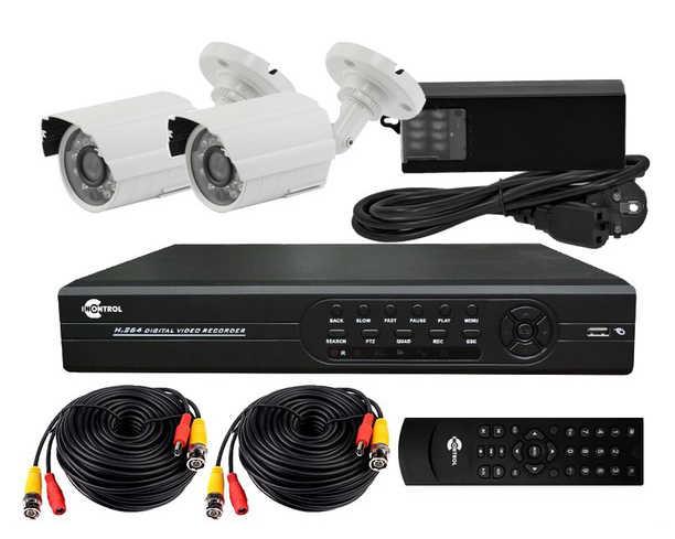 Выбор комплекта на две камеры видеонаблюдения